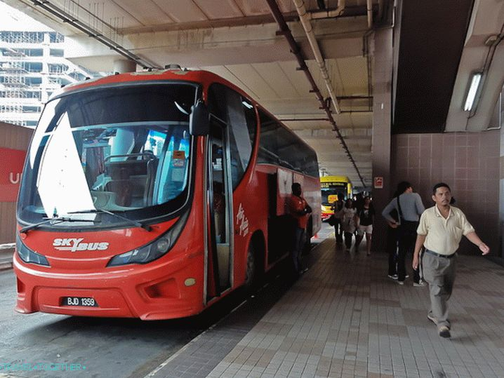 Skybus a KL Sentralban