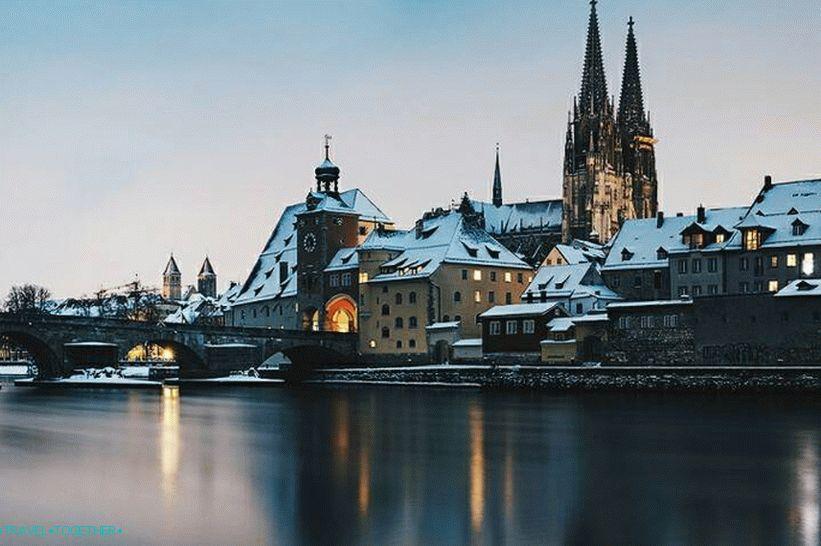 Regensburg óvárosa a Stadtamhoffal